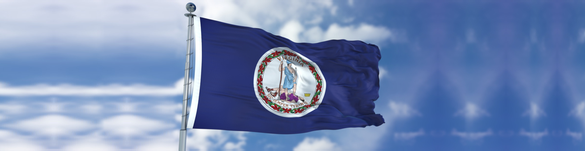 Virginia Waving Flag